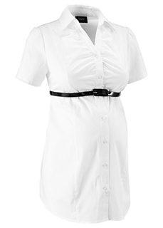 Бизнес-мода для беременных: блузка-стретч  + ремень (2 изд.) (красный) Bonprix