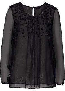 Блузка с красивой отделкой (белый) Bonprix
