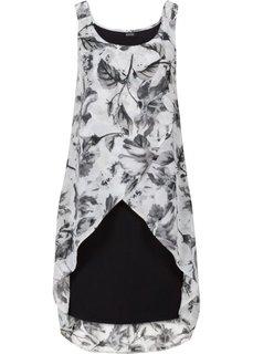 Платье (коралловый с рисунком) Bonprix