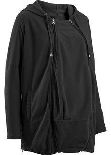 Мода для беременных: флисовая куртка со вставкой для малыша (лиловая фиалка) Bonprix