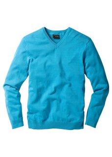 Пуловер (серый меланж) Bonprix