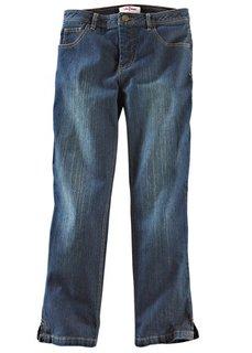 Джинсы-стретч капри (синий «потертый») Bonprix