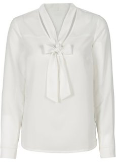 Обязательный элемент гардероба: блузка с бантом (нежно-голубой с узором) Bonprix