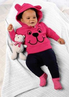 Мода для малышей: флисовый пуловер, Размеры  56/62-104/110 (горячий ярко-розовый) Bonprix