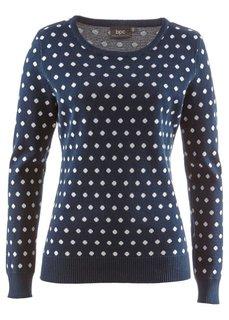 Пуловер (нектариновый/белый в горошек) Bonprix