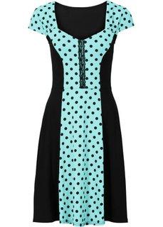 Платье в горошек (коралловый/черный в горошек) Bonprix