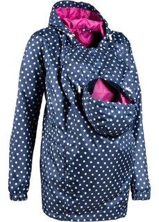 Мода для беременных: куртка со вставкой для малыша (черный) Bonprix