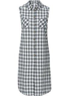 Удлиненная блузка (дымчато-розовый/серый в клетку) Bonprix