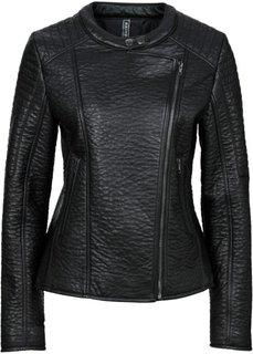 Байкерская куртка из искусственной кожи (нежно-розовый) Bonprix
