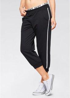 Трикотажные брюки 3/4 без застежки (черный) Bonprix