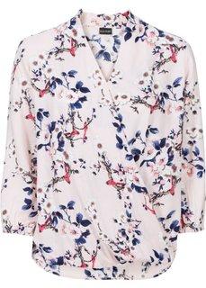 Блузка с цветочным принтом (синий в цветочек) Bonprix