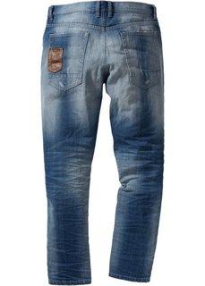 Джинсы Loose Fit Tapered, длина (в дюймах) 32 (синий «потертый») Bonprix