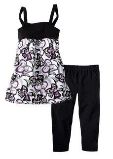 Платье + леггинсы (комплект из 2-х изделий) (c рисунком бабочек) Bonprix