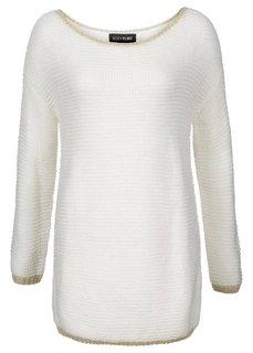Пуловер (черный/серебристый) Bonprix