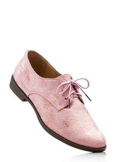 Туфли на шнурках (змеиный рисунок/серебристый ме) Bonprix