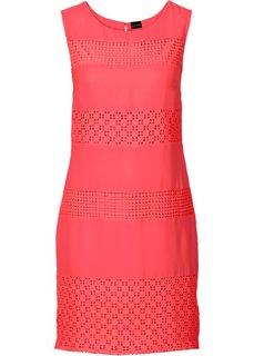 Платье с кружевными вставками (темно-синий) Bonprix