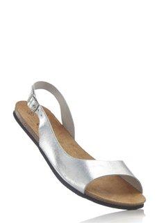 Кожаные сандалии (зеленый пастельный) Bonprix