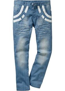 Джинсы Regular Fit Straight, длина (в дюймах) 34 (нежно-голубой выбеленный «поте) Bonprix