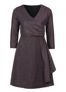 Трикотажное платье с люрексом (темно-изумрудный/золотистый) Bonprix