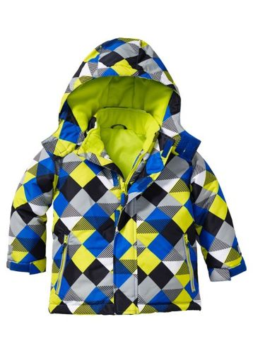 Зимняя куртка (лиловый в клетку)