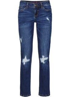 Укороченные джинсы Slim (голубой выбеленный) Bonprix