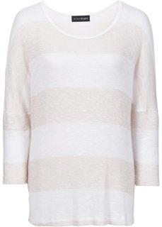 Пуловер с рукавом 7/8 (нежно-мятный/ярко-розовый флам) Bonprix