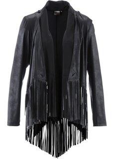 Куртка из искусственной кожи с бахромой ПРЕМИУМ (натуральный камень) Bonprix