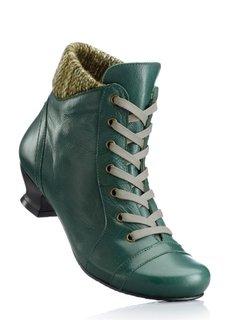 Кожаные ботиночки (черный) Bonprix
