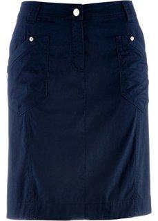Вельветовая юбка-стретч (белый) Bonprix
