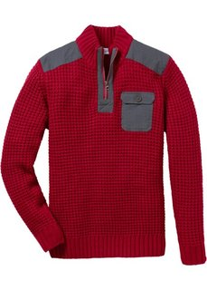 Пуловер Regular Fit с воротником-стойкой (ночная синь) Bonprix