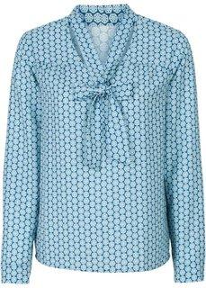 Обязательный элемент гардероба: блузка с бантом (кленово-красный/цвет белой шер) Bonprix