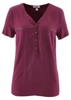 Блузка с коротким рукавом (аква) Bonprix