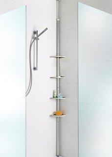Телескопическая угловая полка для ванной (серебристый/алюминий) Bonprix