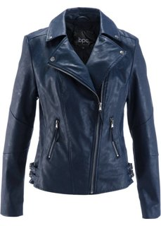 Куртка-косуха из искусственной кожи (темно-оливковый) Bonprix