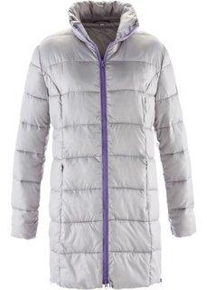 Стеганая удлиненная куртка с мешком (генцианово-синий) Bonprix