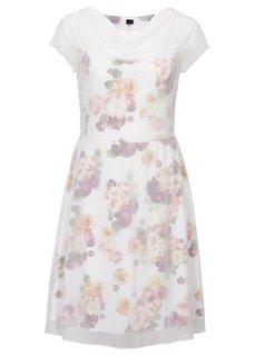 Шифоновое платье (красная ягода в цветочек) Bonprix