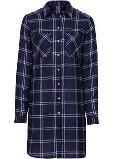 Удлиненная блузка (черный/красный в клетку) Bonprix