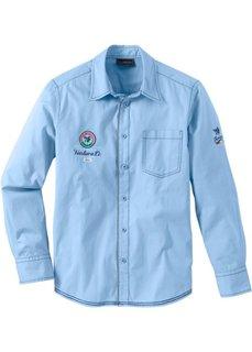 Рубашка Regular Fit (клубничный) Bonprix