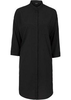Рубашка (черный/цвет белой шерсти в пол) Bonprix