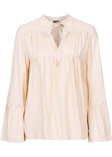 Обязательный атрибут гардероба: блузка (коричневый с узором) Bonprix