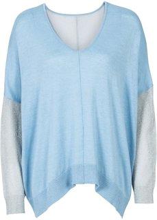 Пуловер с люрексом (нежно-коралловый/серебристый) Bonprix