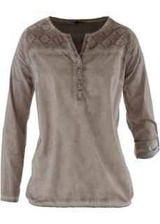 Блузка с кружевом (горячий ярко-розовый «потертый) Bonprix