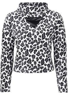 Уютный пуловер (коричневый леопардовый/черный) Bonprix
