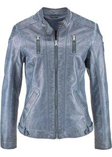 Куртка из искусственной кожи в потертом дизайне (серый) Bonprix