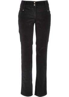 Вельветовые брюки-стретч (темно-коричневый)