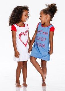 Ночная рубашка (2 шт.), Размеры  92/98-152/158 (красный/небесно-голубой) Bonprix