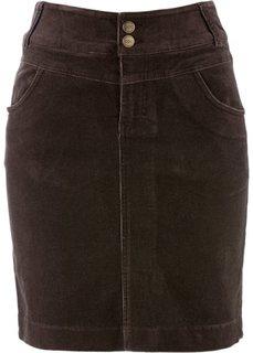 Вельветовая юбка (черный) Bonprix