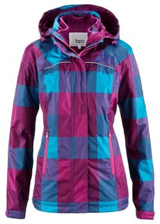 Функциональная куртка 3 в 1 (темно-синий в клетку) Bonprix