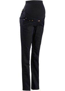 Мода для беременных: стройнящие брюки-стретч с прямыми брючинами (темно-синий) Bonprix