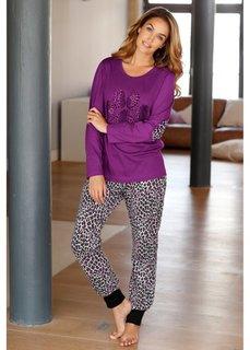 Пижама (лиловый с рисунком) Bonprix